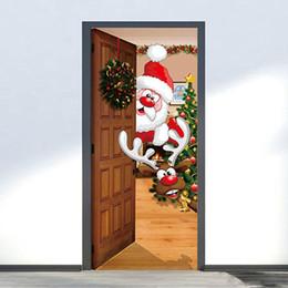 decorazioni naturali della natura Sconti 2 Pz / set Decorazioni di Natale Per La Casa Wall Sticker Sticker Pupazzo di Neve Rimovibile Murale Adesivo Porta Vinilos Decorativos Para Paredes