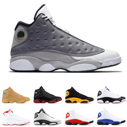 2a2d8100531 13s mens basketball shoes Atmosphere Grey DIRTY BRED CHICAGO HYPER ROYAL  WHEAT GREY TOE BLACK CAT OLIVE 13 men sports sneakers