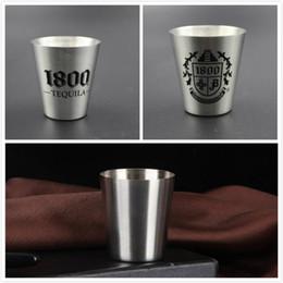 verres à liqueur en acier Promotion 30 ml 70 ml personnalisé verre à boire tasse tasse spirituelle acier verres à liqueur cupsne bière whisky tasses tasse de voyage en plein air