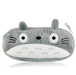 2019 borsa della moneta di totoro Totoro popolare 20 cm ca. SACCHETTO del giocattolo della peluche, giocattolo della peluche del portachiavi di Keychain di progettazione della borsa della borsa della moneta della copertura della peluche borsa della moneta di totoro economici