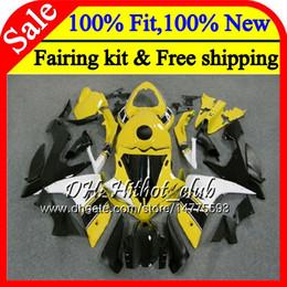 carenado ninja morado Rebajas Cuerpo de inyección para YAMAHA YZF R 1 YZF 1000 YZFR1 07 08 98HT15 YZF R1 07 YZF1000 YZF-1000 YZF-R1 2007 2008 Carenado de carenado blanco amarillo