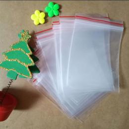 2019 rose rosse di plastica Sacchetto trasparente della chiusura lampo di plastica del sacchetto di Zi Pepper del sacchetto trasparente della chiusura lampo di 1000pcs / pack Sacchetti trasparenti dell'imballaggio dei vestiti