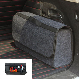 caja de almacenamiento gris Rebajas Organizador del maletero del coche Caja de bolsa de almacenamiento plegable Carga de lana portátil gris