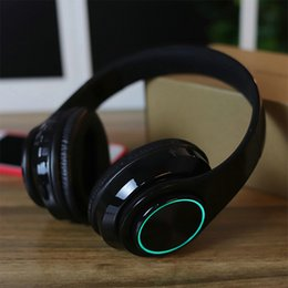 хинди mp3 видео Скидка Led Breathing Light Bluetooth-наушники со складной головкой 3,5 мм аудио кабель Беспроводные наушники Поддержка TF карта PK Marshall