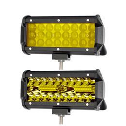 2019 barras claras conduzidas ambarinas 7 Polegada Led Off Road Light Barra Para ATV Caminhões Da Motocicleta 4x4 12 V Feixe Combo Âmbar Amarelo Trabalho Luzes de Condução Bar Nevoeiro lâmpada desconto barras claras conduzidas ambarinas