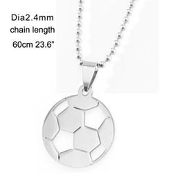 100% из нержавеющей стали футбольный мяч кулон ожерелье футбол шарм колье колье де футбол лучший друг ожерелья полированный от