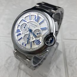 2019 relógios de luxo de luxo 48 milímetros Marca Cr Trabalho Cronógrafo alta qualidade em aço inoxidável Mens Top de luxo relógios para homem Multifunction Moda Casual relógios de quartzo