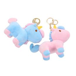 giocattoli all'ingrosso delle bambine Sconti Unicorno in peluche per bambine Portachiavi in miniatura rosa Portachiavi in peluche con ciondolo Forniture per feste di compleanno Collane artigianali Tutina a sorpresa