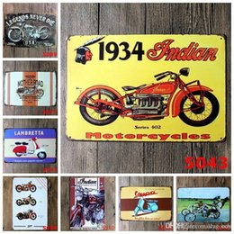 casas de motor vintage Desconto Motor Oil 66 Mother Road Retro metal do vintage Placas de lata Wall Art popa indianos Sinais motocicleta País Tin Bar sinal da loja Home Decor