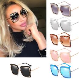 солнцезащитные очки Скидка Cat Eye Розовые солнцезащитные очки для мужчин и женщин Оттенки зеркала Квадратные солнцезащитные очки UV 400 Модные солнцезащитные очки марки MMA1861