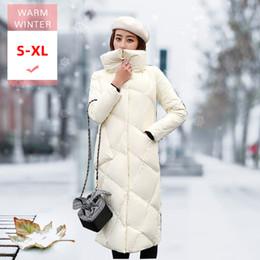 New Winter Fashion Frauen x Long Dicke weiße Duck Down Jacket Female Warm Umlegekragen Feder Mantel Schlank windundurchlässiges Outwear