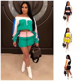2a48b357d Fora Ombro Saias Treino Mangas Compridas Vestido Curto 2 pcs Um Kit Senhora  Outfits Sunscreen Casa Roupas 45ls E1