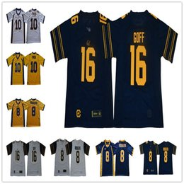 cd2dbdb29 NCAA  16 Jared Goff 8 Aaron Rodgers 10 Marshawn Lynch California Golden  Bears College Football Jersey Stitched Mens Cal bears Jersey