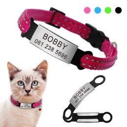 chihuahua halsbänder Rabatt Nylon Katzenhalsband Personalisierte Haustier Halsbänder mit Namen ID Tag Reflective Chihuahua Kätzchen Halsbänder Halskette für Haustiere Hundezubehör
