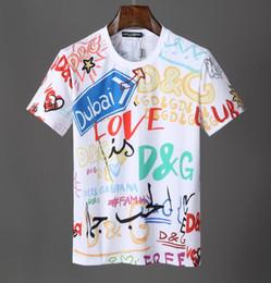 camisas de manga corta para hombre Rebajas Europa París Nueva D + G Diseñador de moda Summer Street camisetas 5A + Mangas cortas de alta calidad tshits para hombre mujer camiseta del suéter ropa 517