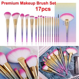 2020 pinceles de maquillaje kabuki set Set de pinceles de maquillaje Premium 17 unids Pinceles de sirena Powder Foundation Corrector de ojos Crema de ojos Contorno de contorno Kabuki Cosmetic Brush rebajas pinceles de maquillaje kabuki set