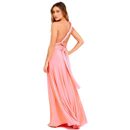 Donne sexy Boho Maxi Club Dress Red Bandage Long Dress Party Multiway Bridesmaids Convertible Infinity Robe Longue Femme 2018 Y190117 da
