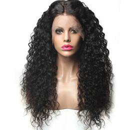 Canada Kinky bouclés perruque de cheveux synthétique avant de lacet perruques eau bouclés cheveux synthétiques profond Kinky bouclés de perruques dentelle milieu partie vague cheveux Cosplay perruques cheap deep wave middle part lace fronts Offre