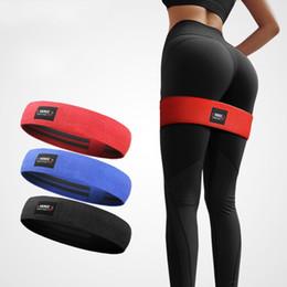 Cinghie elastiche rosse online-Cintura Yoga Stretch Cintura Fitness Squat Hip Circle Elastico Forza Glutei Multi Funzione Lattice Antiscivolo Stripe Blu Rosso 12 56al3 C1