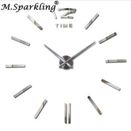 Reloj de pared decorativo grande online-Nuevos relojes de pared decorativos grandes Relojes de bricolaje Sala de estar reloj mural Reloj de pared Etiqueta