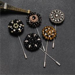 aiguille aiguille Promotion Perles De Cristal À La Main De Mode Hommes Femmes Chandail Broche Aiguille Longue Broche Châle Chemise Collier Accessoires Cadeau