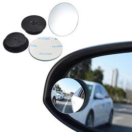 vw cc fibre de carbone Promotion NICECNC 360 degrés universelle Blind Spot Miroir pour voiture HOT vente sans cadre Ultrathin Grand angle ronde Convex Vue arrière Miroir