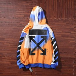 2019 hoodie branco liso Mens marca hoodies moda desconto baixo preço OFF com capuz manga longa estrela respingo de tinta impressão amantes jaqueta casual