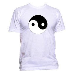 original t shirts designs Promo Codes - Original Yin And Yang Design Unisex T-Shirt Mens Womens Fashion Comedy Cool Gift colour jersey Print t shirt