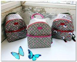 2020 модные сумочки bird Дизайнерские дети письмо рюкзак 2020 мод роскошных девушек луки сердце любови птицы роза печати двойного мешок плечо выполненных на заказ сумки женщины P0188 скидка модные сумочки bird