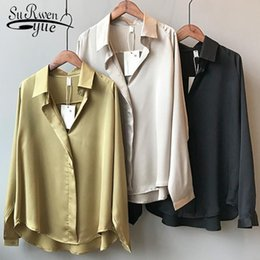 Großhandel Frauen Weiße Hemd Bluse Hülse Mit Drei Vierteln Beiläufige Art Und Weise Reine Weiße Elastische Taille Neue Schicke Frühlings Blusen