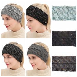 2019 lemfo bluetooth smartwatch Bandas de punto 21 colores Crochet Twist Headwear Turban Winter Ear Warmer Headwrap Elástico Banda para el cabello Mujeres Accesorios para el cabello T0114