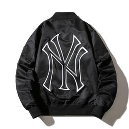 NEW YORK Mens Luxus Designer Jacken bestickter NY Bomberjacke Herbst dünner Winter dick Baseball Mäntel Männer schwarz Street Mantel S 3XL