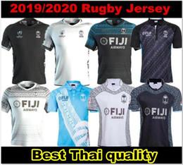 19 20 Fiji shirt Rugby Sevens Camisa olímpica de qualidade Tailândia 18 19 20 jerseys Fiji 2019 2020 Nacional de 7 Rugby Jersey S-3XL de Fornecedores de jérsei de rugby azul amarelo