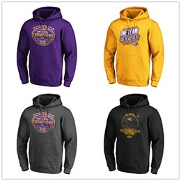 nationale hoodies  Rabatt NCAA LSU Tigers Fanatics Branded College Football Playoff 2019 nationale Champions PulloverHoodie Mensentwerfer Pullover gedruckt Logos Lila