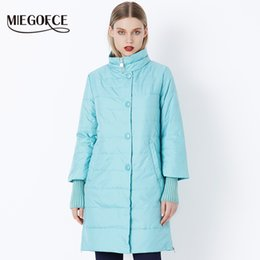 2021 delle donne giacca di media lunghezza MIEGOFCE 2018 New Spring Parka Jacket Women Winter Coat Womens Medium-Long Cotton imbottito Warm Jacket Coat Vendita calda di alta qualità
