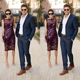 traje moderno para hombres Rebajas Trajes de esmoquin para hombre azul marino traje para hombres 2019 moda dos botones Slim Fit por encargo modernos trajes de boda