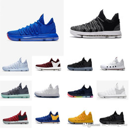 8392e6a53214 Cheap new women kd 10 basketball shoes Oreo Blue Red Boys Girls Children  youth kids Kevin Durant KD10 X air flights sneakers boots for sale