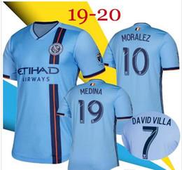 Uniformes de futbol con descuento online-Whosales Discount New York City FC 2020 Camisetas de fútbol, New York FC Uniforme de fútbol personalizado MLS LAMPARD Pirlo DAVID VILLA Thai 2019 19 20