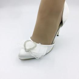chaussures habillées couleur ivoire Promotion 7.5cm haut talon Ivoire Couleur Robe De Mariée Robe De Mariée Chaussures À La Main pour le Mariage De Bal Parti Chaussures Taille EU35-41
