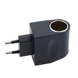 2019 eu plug mini cargador de coche Ette Mini encendedor del coche 220v adaptador de la UE nos enchufe de CA 220V al DC 12V del convertidor de energía de la pared del cargador del divisor del zócalo del automóvil rebajas eu plug mini cargador de coche