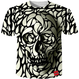 Marche cool tshirt online-Cloudstyle Tshirt Uomo 3d Skull Stampa Fashion Brand Hipster Harajuku Maglietta Top Estate Cool Streetwear Plus Size 5xl Q190514