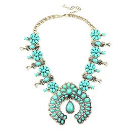2019 weiße perlenhalskette entwirft gold Klassische antike Kürbis-Blumen-Halsketten-Aussage hängende Halskette N100008 späteste Entwurfs-Kürbis-Blüten-Halskette fabelhaftes Y19050802