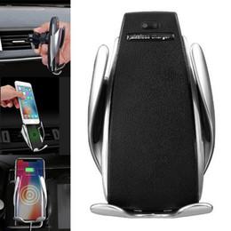 2019 receptor telefone iphone Carregador de carro Receptor S5 Automático de Aperto de Carregamento Rápido Cup Holder Suporte Do Telefone No Carro Para o iphone receptor telefone iphone barato