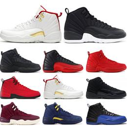 jordan retro 2019 basketbol ayakkabıları 12 s FIBA Oyunu Kraliyet GYM KıRMıZı WNTR FRANSIZ MAVI MICHIGAN grip oyunu NAYLON mens spor sneakers eğitmenler Atletizm boyutu 7-13 nereden