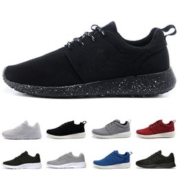Compre Nike Roshe Run One 2018 Venta Londres 3.0 1.0 Clásica Correr Zapatillas De Deporte Hombres Mujeres Negro Bajo Ligero Transpirable Olímpico