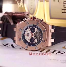 Relógio automático de cavalheiro on-line-Moda Exquisite Men Tourbillon Relógios De Pulso De Alta Qualidade Cavalheiro Mecânico Automático Relógios De Borracha Homens Relógio Do Esporte Calendário