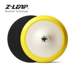 "Z-LEAP 7"" Plastic Backer Pad lixar disco de suporte titular com 5 / 8-11 Ou M14 Rosca para Polidor Angle Grinder lixar Polimento de"