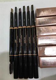 2019 plantilla de polvo de ceja ¡El maquillaje a estrenar caliente del envío libre Eyes 0.2g reforzadores de la ceja ceja del lápiz del lápiz con el cepillo de la ceja! 4 diversos colores