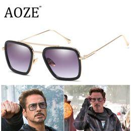 steampunk occhiali da sole occhiali Sconti Uomo Vintage Steampunk Occhiali Da Sole Progettista di Marca Tony Stark Iron Man Occhiali Retrò Antivento Stea Punk Occhiali Da Sole Gafas Oculos