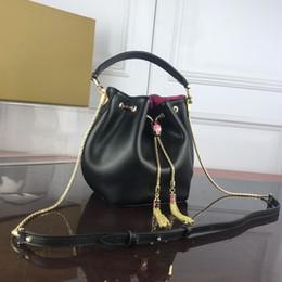 Sac de seau en cuir véritable de mode femmes célèbres marques designer cordon sacs à main impression de fleurs sac à main bandoulière sacs à bandoulière ? partir de fabricateur